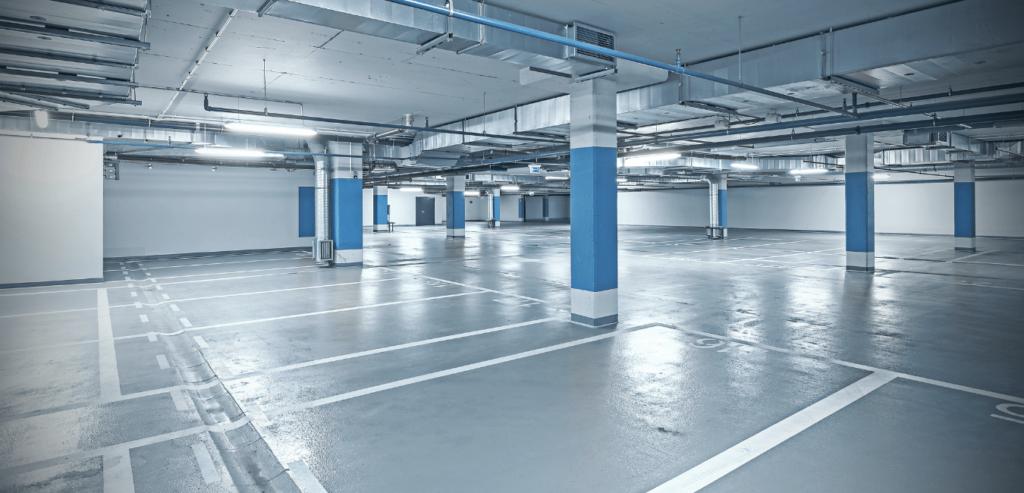 LITELUME's LED Linear Light Fixtures brighten enclosed parking garages