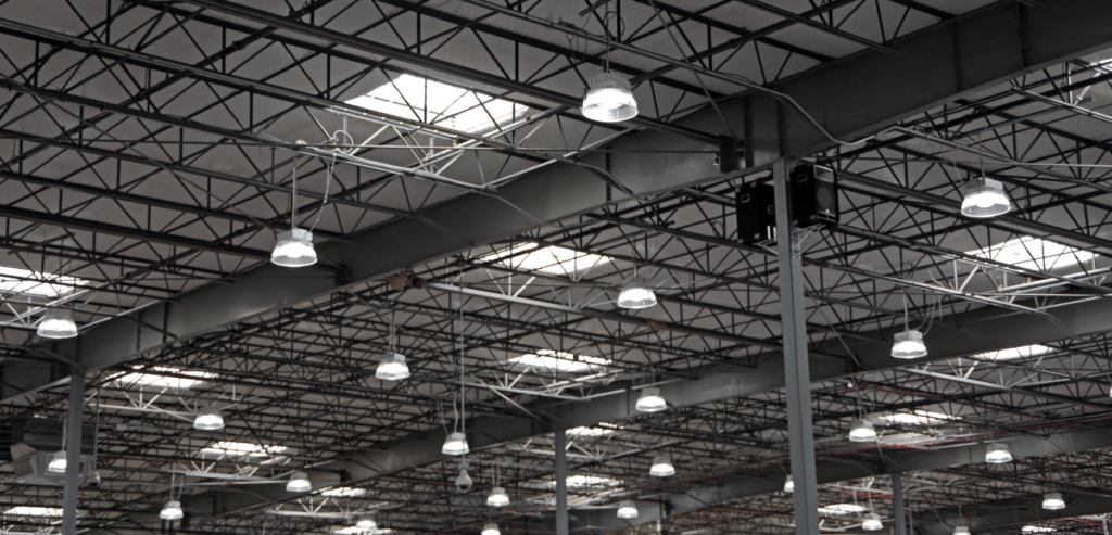 Warehouse lighting with LED High Bay Light fixtures