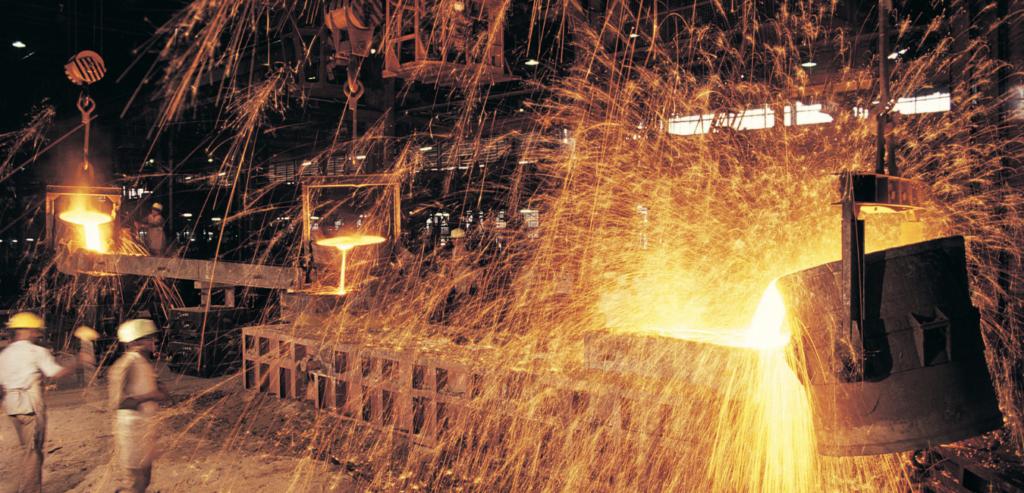 hazardous area lighting within a steel mill