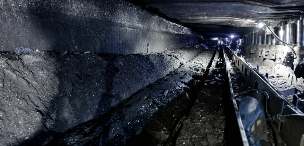 Lighting within a coal mine