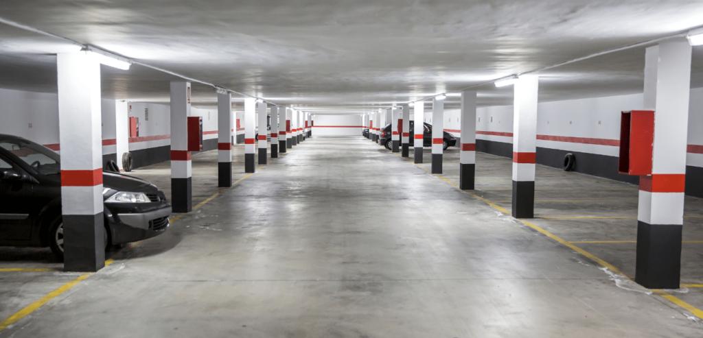 Parking garage light fixtures